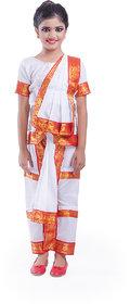 Fancydresswale Bharatnatyam Dance white dress Costume For Kids
