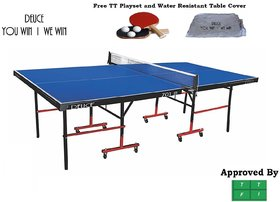 TABLE TENNIS TABLE - DEUCE 701 WITH PLAYSET AND COVER