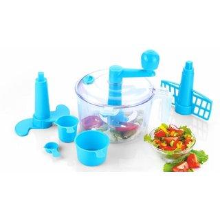 Multi Purpose Dough Maker Atta Make Chop N Churn Vegetable Cutter 3 In 1 - Blue