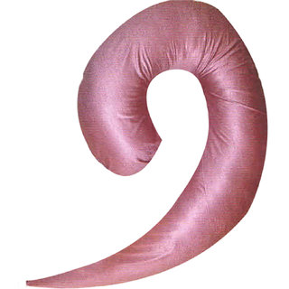 Comfort Pillows Pink Comma /9 Shape Pregnancy Pillow
