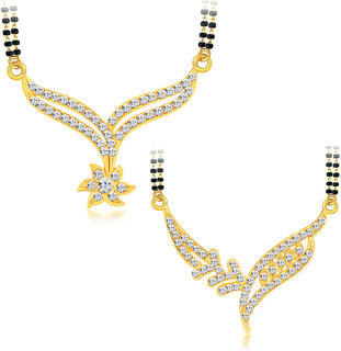 Shostopper Gold Plated Gold Alloy With chain for Women-Combo 2