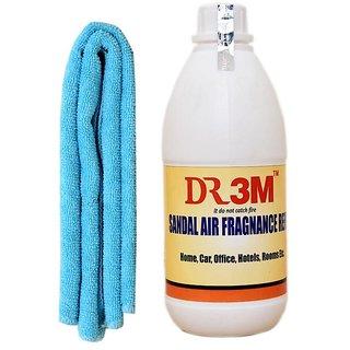 CAR AIR FRAGNANCE- SANDAL  500ml.+ CAR MICROFIBER CLOTH (SKY BLUE )