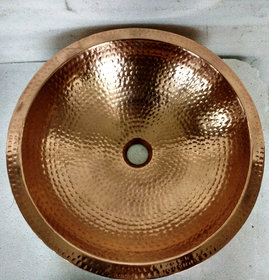 REMAC WALL-DOUBLE BOWL COPPER VESSEL SINK..