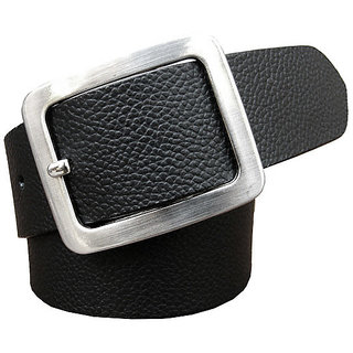 Stylish Black Faux Leather Belt (Synthetic leather/Rexine)