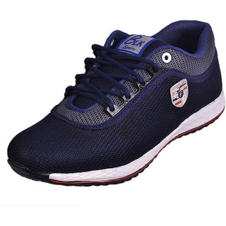 Essence Men's Blue Casual Synthetic Lace-Up Sports Shoes