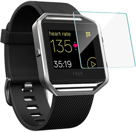 Tempered Glass Screen Protector Round Edge for Fitbit Blaze with installation Kit