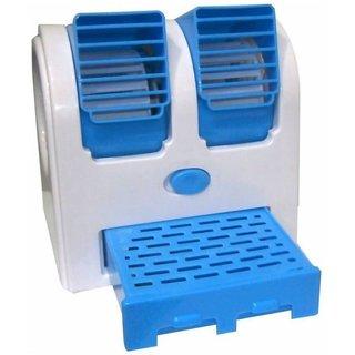 Battlestar Mini Small Fan Cooling Portable Desktop Dual Bladeless water Air Cooler USB (Random Color) PowerCode-C08