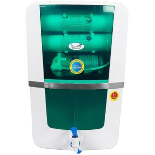Ocean Pure Royal Crown RO Water Purifier RO + UV+UF+TDS Controller Green 10ltr