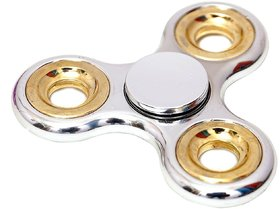 Chrome Edition Metallic Fidget Hand Spinner Toy for Kids  Adults (assorted)