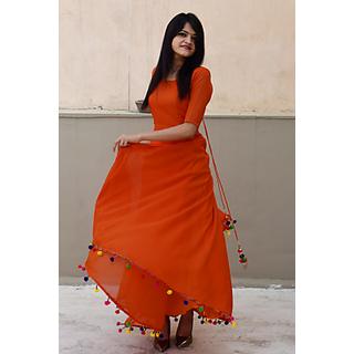 Orange Long Dress