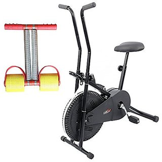 Lifeline Exercise Cycle for Weight Loss at Home Bonus Red Tummy Trimmer for Tummy Exercise