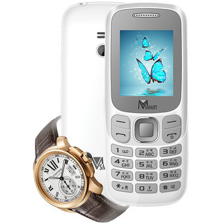 MSmart M9 (Dual Sim, 1.8 Inch Display, 800 Mah Battery) With Wrist Watch