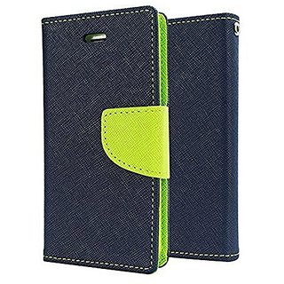 Sony Xperia Z3 Flip Cover by Leather Mercury Front  Back Flip Cover  - Blue