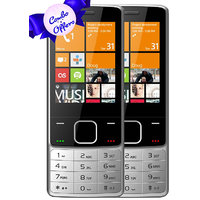 Set Of 2, IKall K6300 Silver+Silver Mobile Phone 2.8Inc