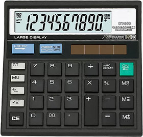 12 digit Big Display Solar With 112 Check Correct Features, Calculator For Business Offices, Accounts Purpose.
