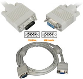 Vga Male To Female Extnsion Cable 1.5 Meter