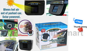 Imported Solar Power Car Auto Cool Air Vent With Rubber