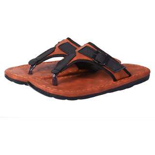 Metmo Men's Tan Casual Slipper