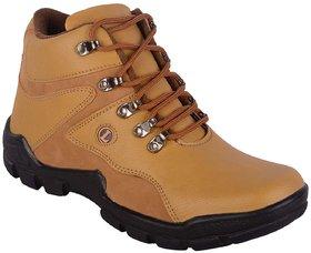 Aadi Men's Tan Faux Leather Casual Boot