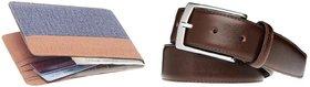 Pack of Unique Denim Wallet + Brown Belt ( Dw-035)