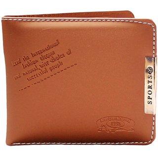 Unique Collection Men's Brown Leatherite Bi-fold Wallet (Sports-002)