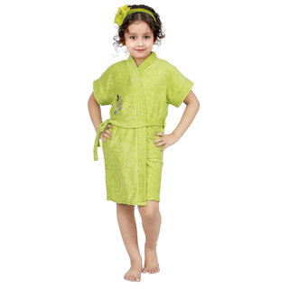 Superior Kids Bathrobe (Parrot Green)
