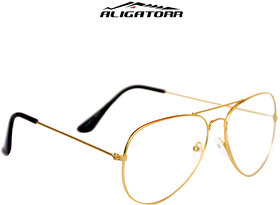 Aligatorr White Night Vision Aviator Free-Size Sunglasses
