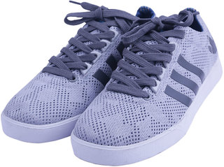 VISACH Unisex Grey Casual Shoes (VSFOOTWEAR101)