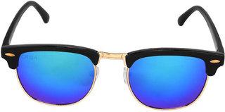 Aligatorr Stylish Clubmaster Blue Mercury UV400 Sunglass