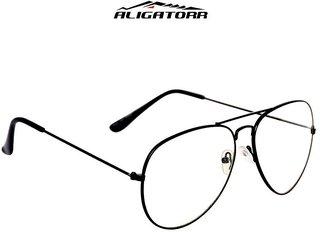 Aligator Transparent Uv Protection Aviator Free-Size Sunglasses
