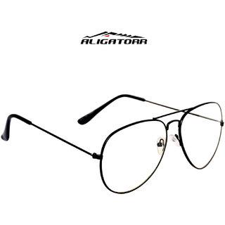 5daa8a7ca4 Buy Aligatorr Stylish White Aviator in Black Frame 20 Online - Get 90% Off