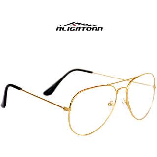Aligatorr White Night Vision Aviator Free-Size Sunglasses