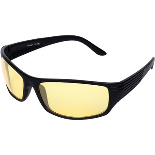 Aligatorr Night Drive Yellow Unisex UV400 Sports Sunglass