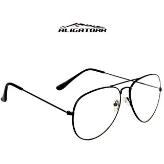 Aligator Transparent Uv Protection Aviator Free-Size Sunglasses