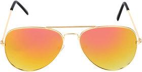 Aligatorr Stylish Yellow Mercury Aviator Sunglass