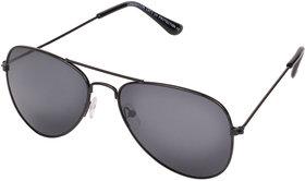 Aligatorr Stylish Dark Black Aviator UV400 Sunglass