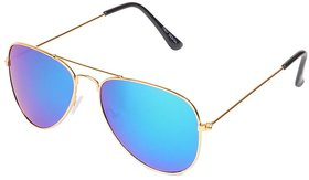 Aligator Blue UV Protection Aviator Unisex Sunglass