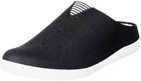 Fausto Men's Black Canvas Slip On Shoes
