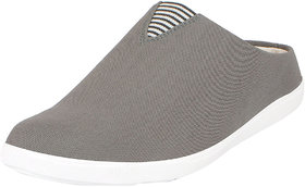 Fausto Men's Grey Canvas Slip On Shoes