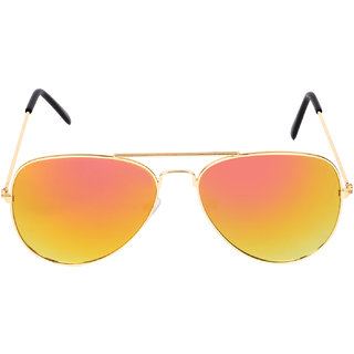 Aligatorr Stylish Yellow Mercury Aviator Sunglass