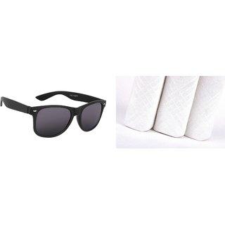 f548ae8148 Buy Classic Black Wayferer And 3 Mens Handkerchiefs GS-104 Online - Get 73%  Off