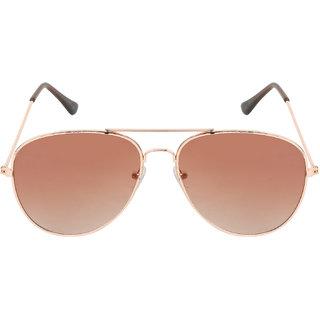 Aligatorr Stylish Golden Brown Double Shade Unisex UV400 Sunglass