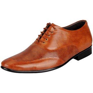 FAUSTO Tan Mens Formal Oxford Shoes