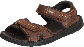 Dr.Scholls Men's Dark Brown Leather Outdoor Velcro Sand