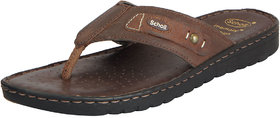 Dr.Scholls Men's Dark Brown Leather House And Daily Wea
