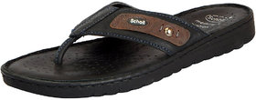 Dr.Scholls Men's Black Leather House And Daily Wear Sli