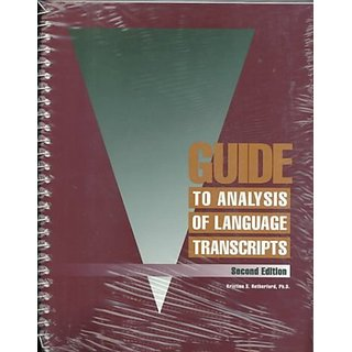Guide to Analysis of Language Transcripts By Thinking Pubns; 2nd Spiral edition (1 September 1993)