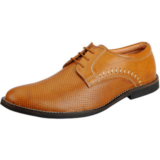 FAUSTO Tan Mens Derby Shoes