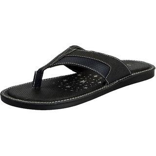 FAUSTO Black Men's House Slipper & Flip flops