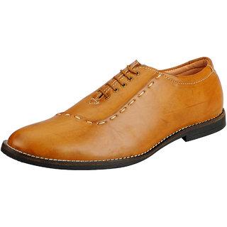 FAUSTO Tan Mens Oxford Shoes